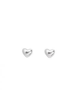 Aagaard - Sølv øreringe med hjerter