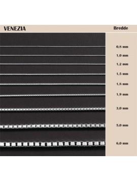BNH sølv Venezia kæde