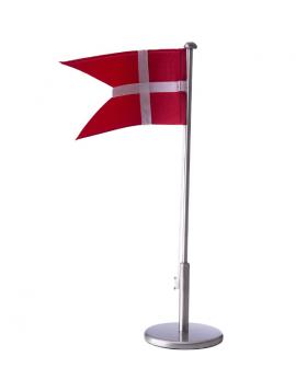 Nordahl Andersen - Flagstang - Fortinnet m. dåbsmotiver