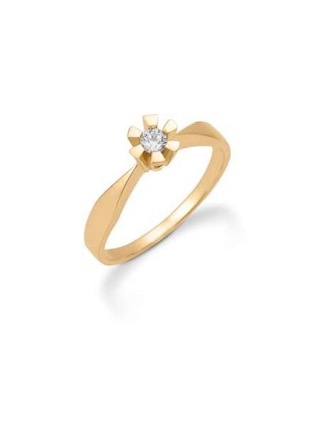 Eternity ring i 8 kt guld med 0,03 carat brillant