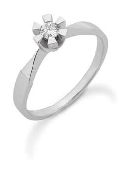 Eternity ring i 14 kt hvidguld med brillant