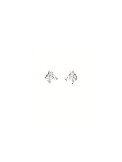 Aagaard - Sølv øreringe med hestehoved