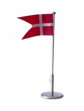 Nordahl Andersen - Flagstang - Fortinnet m. dåbsmotiver